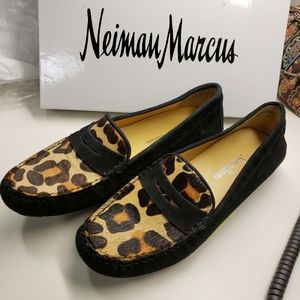 Robyn Suede Leopard Print Moccasin / Flat / Loafer